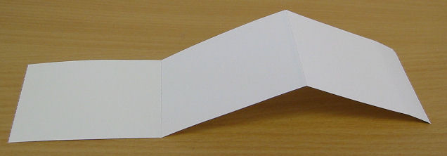 Blank White Fan Fold Tickets