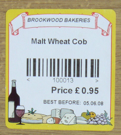 Bakery labels bakery label printers bakery label printing for Food barcode