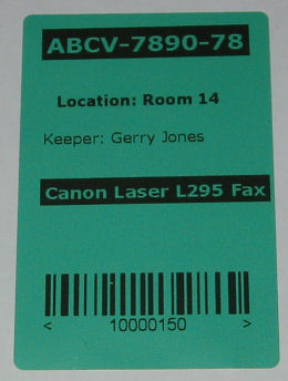 Dark Green Direct Thermal Labels