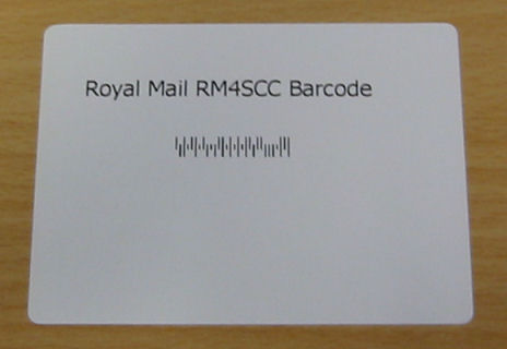 Royal Mail Barcodes,Post Office Barcodes,RM4SCC Barcode