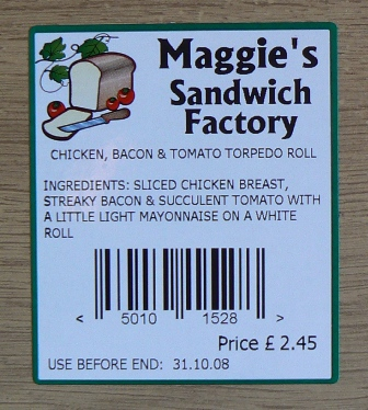 Sandwich Labels