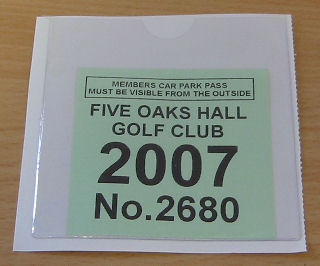 Golf Club Members Parking Permits,Club Members Parking Permits