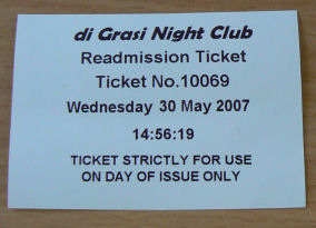 Readmission Tickets,Smoking Ban