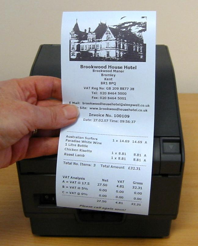 Blue Thermal Receipt Paper