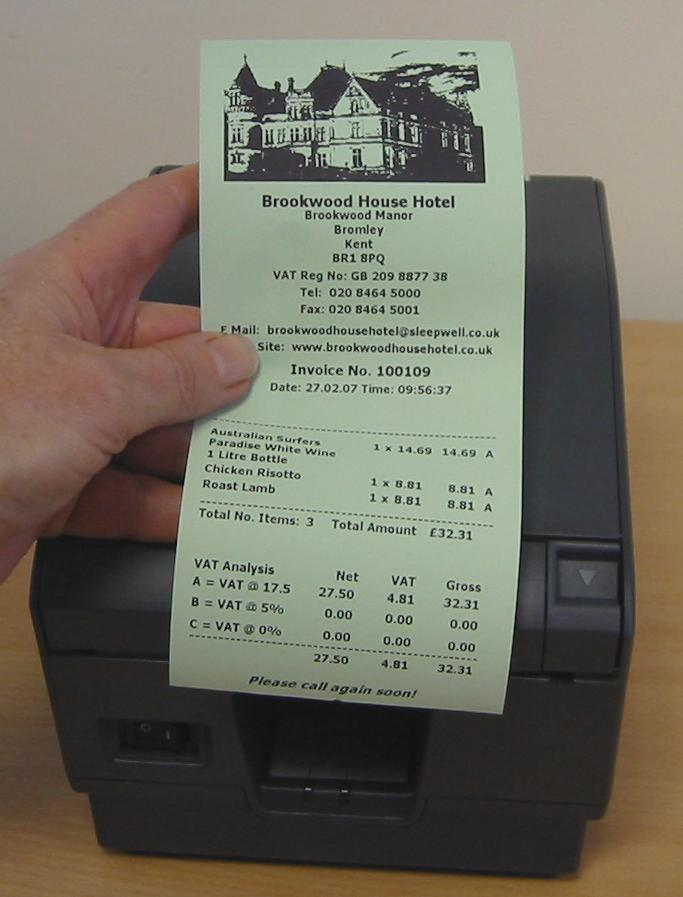 Green Thermal Receipt Paper