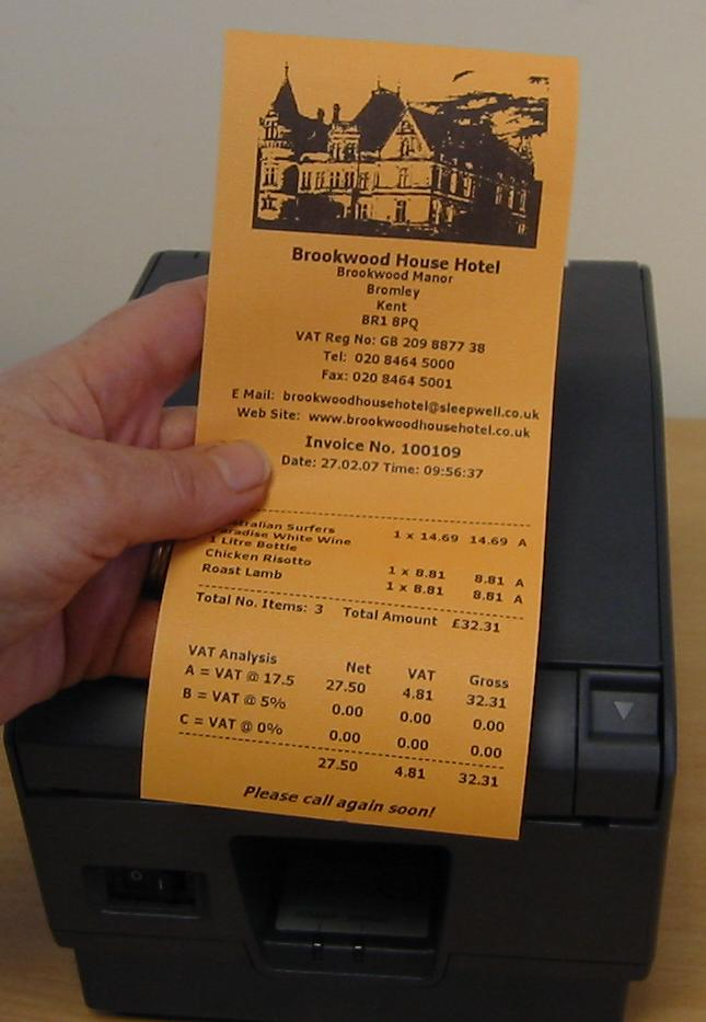 Orange Thermal Receipt Paper