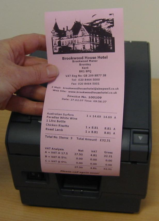 Pink Thermal Receipt Paper