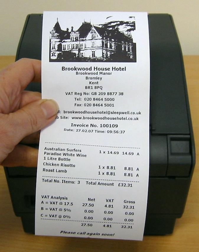 White Thermal Receipt Paper