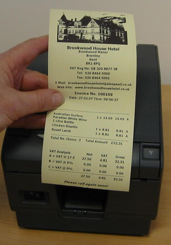 Yellow Thermal Receipt Paper