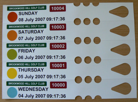Tie On Green Fee Tickets,Tie On Green Fee Tags,Tie On Golf Bag Tags