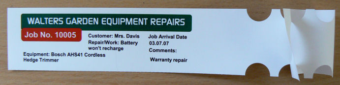 Job Labels,Job Tickets,Job Tags,Repair Labels,Repair Tags,Repair Tickets